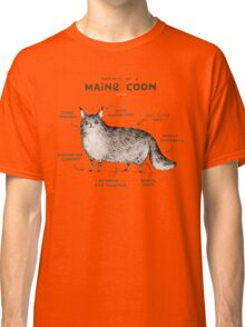 Anatomy of a Maine Coon Classic T-Shirt