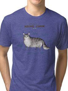 Anatomy of a Maine Coon Tri-blend T-Shirt