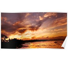 Sunset over Byron. Poster