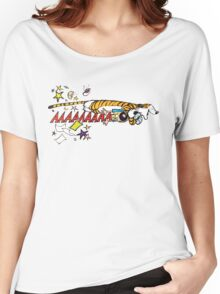 Hobbes Attacking Calvin-1 Women's Relaxed Fit T-Shirt