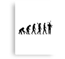 Evolution Juggling Canvas Print