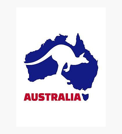 Australia map kangaroo Photographic Print