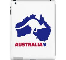 Australia map kangaroo iPad Case/Skin