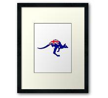 Australia flag kangaroo Framed Print