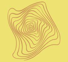 Orange Spiral One Piece - Short Sleeve