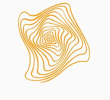 Orange Spiral Womens Fitted T-Shirt