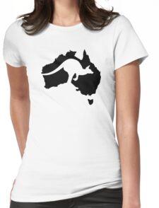 Australia map kangaroo Womens Fitted T-Shirt