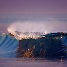 Blue Wave and Purple Sky by David Orias