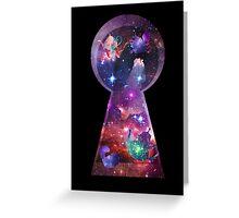 Alice in Wonderspace Greeting Card