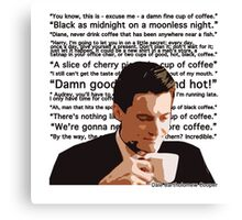 Agent Cooper - Coffee Canvas Print