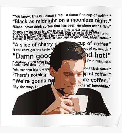 Agent Cooper - Coffee Poster