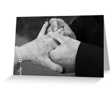 with this ring... Greeting Card