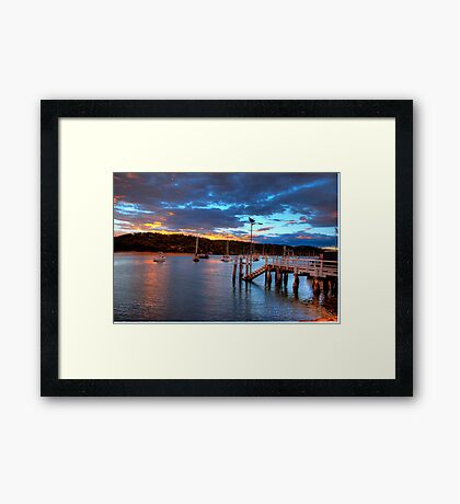 Days End - Newport - The HDR Series Framed Print