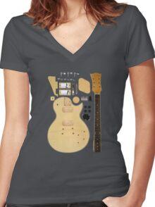 DIY Guitar Hero Women's Fitted V-Neck T-Shirt