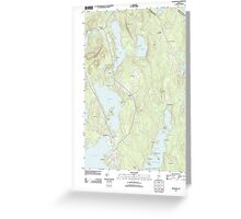 Maine USGS Historical Map Raymond 20110825 TM Greeting Card