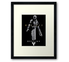 Destiny Warlock Action Figure Framed Print