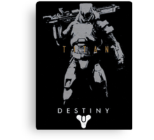 Destiny Titan Action Figure Canvas Print