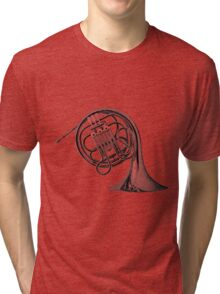 French Horn Musical Instrument. Tri-blend T-Shirt