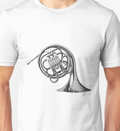 French Horn Musical Instrument. Unisex T-Shirt