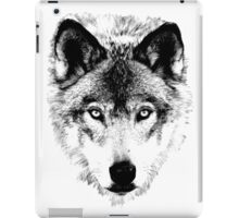 Wolf Face. Digital Wildlife Image. iPad Case/Skin