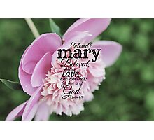 Mary Photographic Print