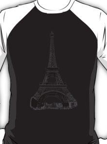 Eiffel Tower Digital Engraving T-Shirt