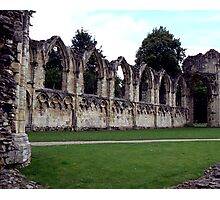 Ruins of St Mary's Abbey Photographic Print