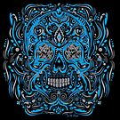 Blue Mexican Skull by candelakis