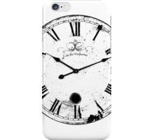 Antique and Vintage Clock Digital Engraving Image iPhone Case/Skin