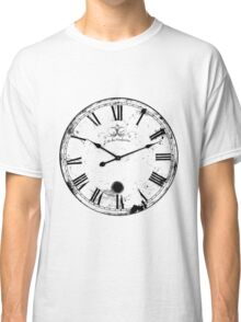 Antique and Vintage Clock Digital Engraving Image Classic T-Shirt