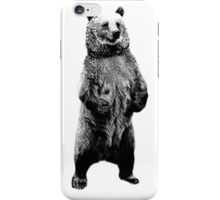 Bear Standing Up. Wildlife Digital Engraving Image iPhone Case/Skin