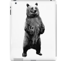 Bear Standing Up. Wildlife Digital Engraving Image iPad Case/Skin