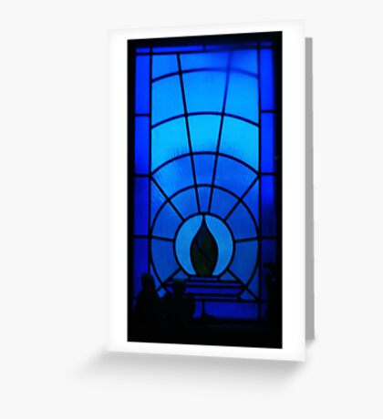 Blue Oblivion Greeting Card