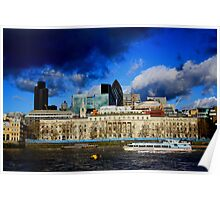 london by the river thames Poster