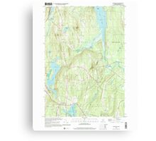 Maine USGS Historical Map Readfield 102912 2000 24000 Canvas Print