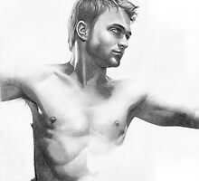 Daniel Radcliffe - a drawing in progress by David J. Vanderpool