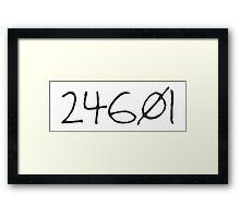 prisoner no. 24601 Framed Print