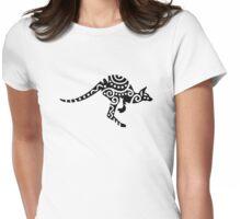 Kangaroo design Womens Fitted T-Shirt