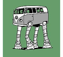 VW Bus AT-AT Imperial Walker Photographic Print
