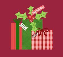 Whimsical Christmas Holly T-Shirt Long Sleeve T-Shirt
