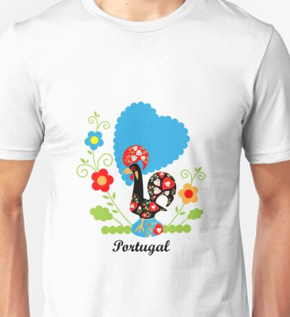 Rooster from Portugal with flowers T-Shirt