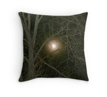 Moon through the Trees Throw Pillow