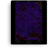 Maine USGS Historical Map Red Beach 460801 1949 24000 Inversion Canvas Print