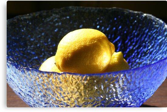 Blue and Lemons by Pamela Jayne Smith