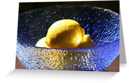 Blue and Lemons by Pamela Jayne Smith