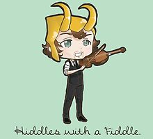 Hiddles with a Fiddle by DarthKawaii42