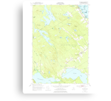 Maine USGS Historical Map Red Beach 460801 1949 24000 Canvas Print
