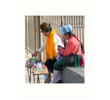 Street Vendors in Quito Art Print