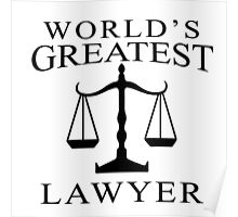 World's Greatest Lawyer Poster