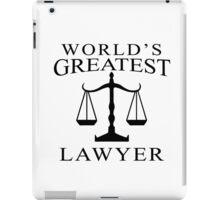 World's Greatest Lawyer iPad Case/Skin